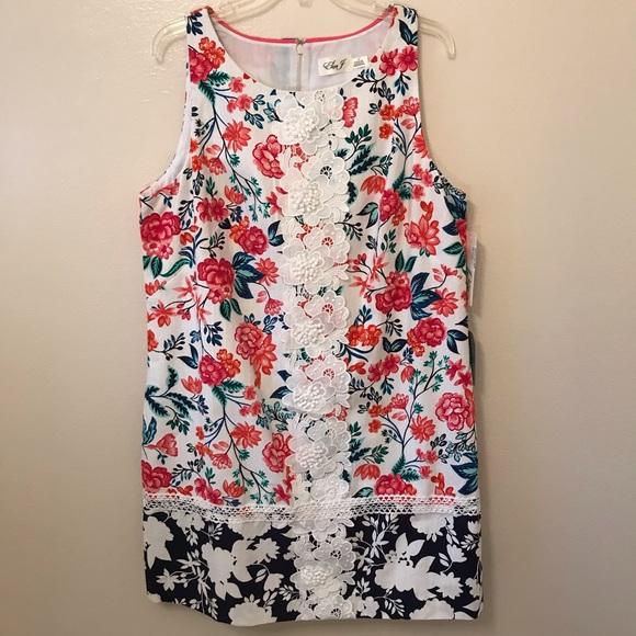f4393f09ff NEW Eliza J Embroidered Floral Dress Size 18